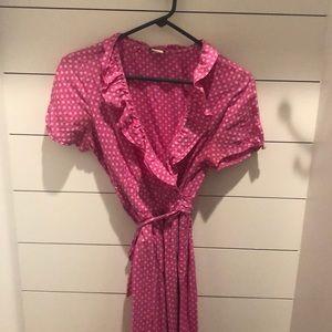 JCrew cute pink wrap dress size 8.  ♥️♥️